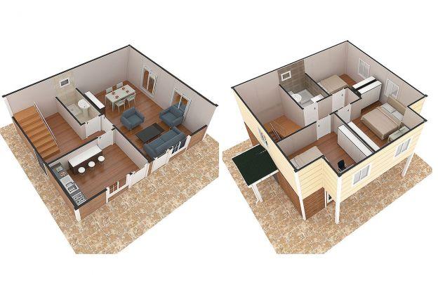 114-m2-Prefabrik-Dublex-Ev-Plan-A